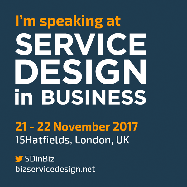 Service Design in Business I'm Speaking at Banner