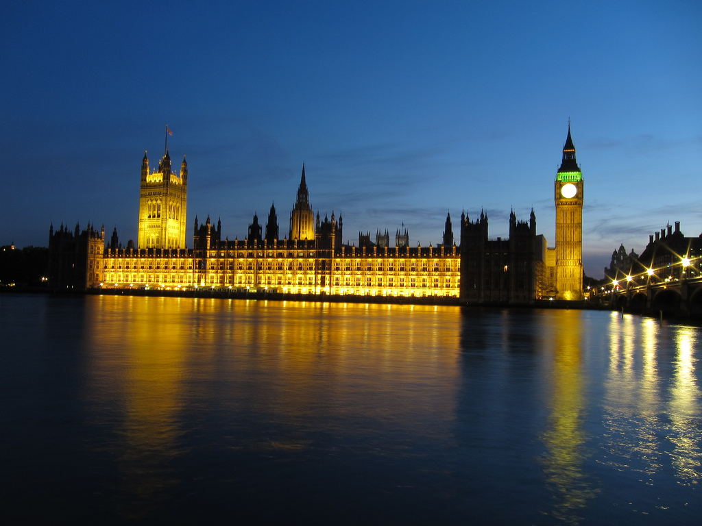 Houses of Parliament at dusk by Alberto Garcia on Flickr